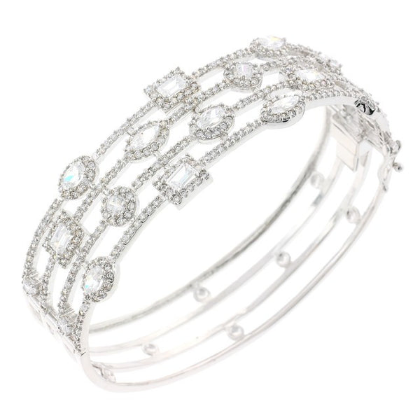 Treasure Chest Chandi Diamond CZ Crystal Bangle Bracelet by Bobby Schandra