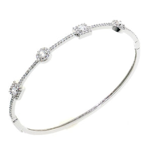 Treasure Style Chandi Diamond CZ Crystal Bangle Bracelet by Bobby Schandra