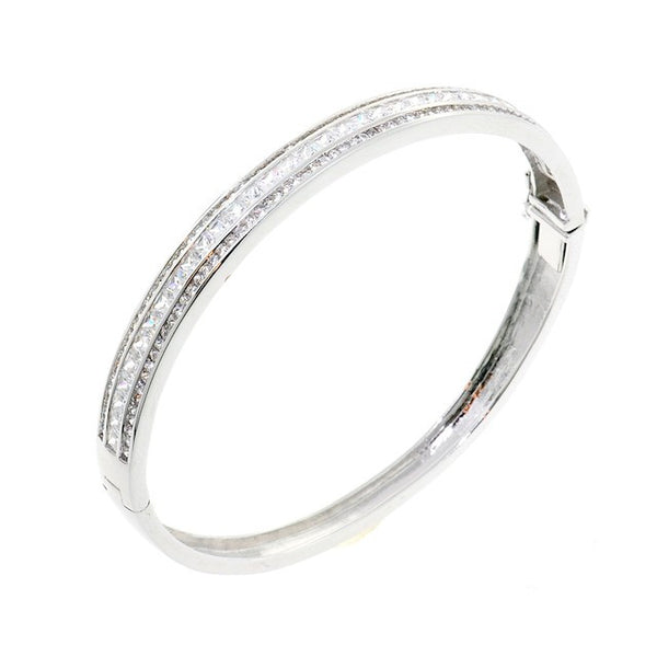 Trio Chandi Diamond CZ Crystal Bangle Bracelet by Bobby Schandra