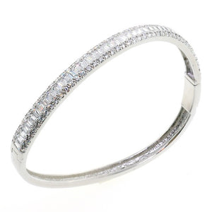 Trio Twist Chandi Diamond CZ Crystal Bangle Bracelet by Bobby Schandra