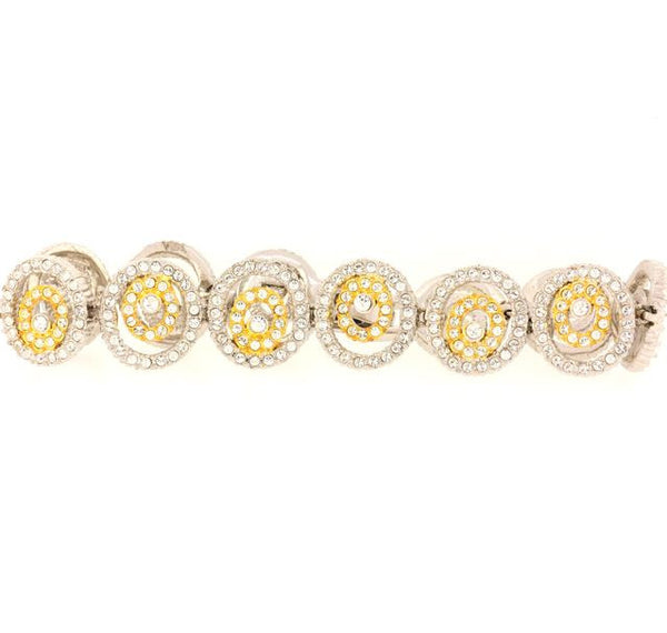 Two Tone Chandi Diamond Spiral Bracelet by Bobby Schandra