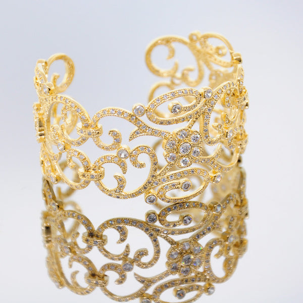 Victorian Gold Chandi Diamond Cuff by Bobby Schandra