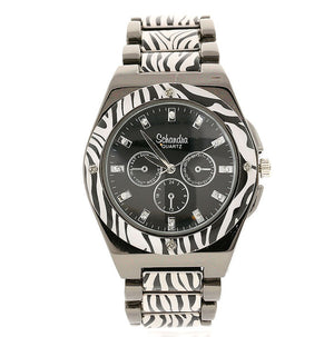 Zebra Crystal Link Watch
