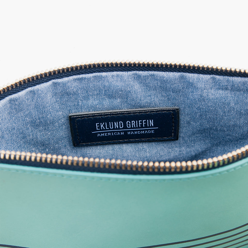 Buoy Block Clutch in Tidal Teal + Casco Bay Blue