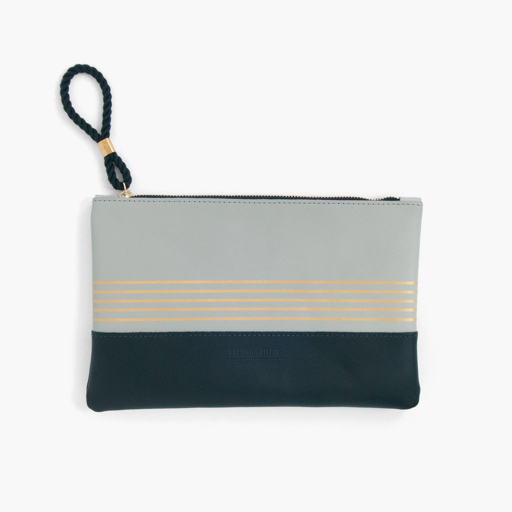 Buoy Block Clutch in Gull Gray + Black
