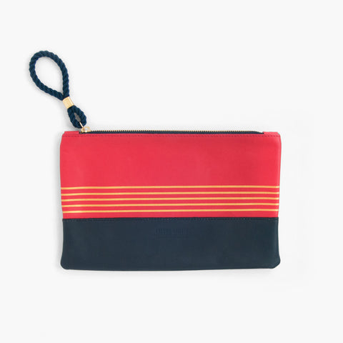 Buoy Block Clutch in Casco Bay Blue + Navy