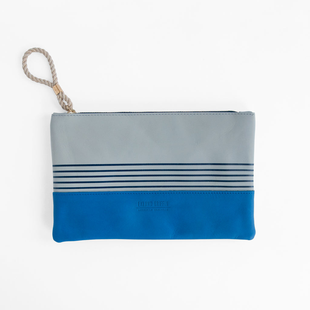 Buoy Block Clutch in Gull Gray + Casco Bay Blue