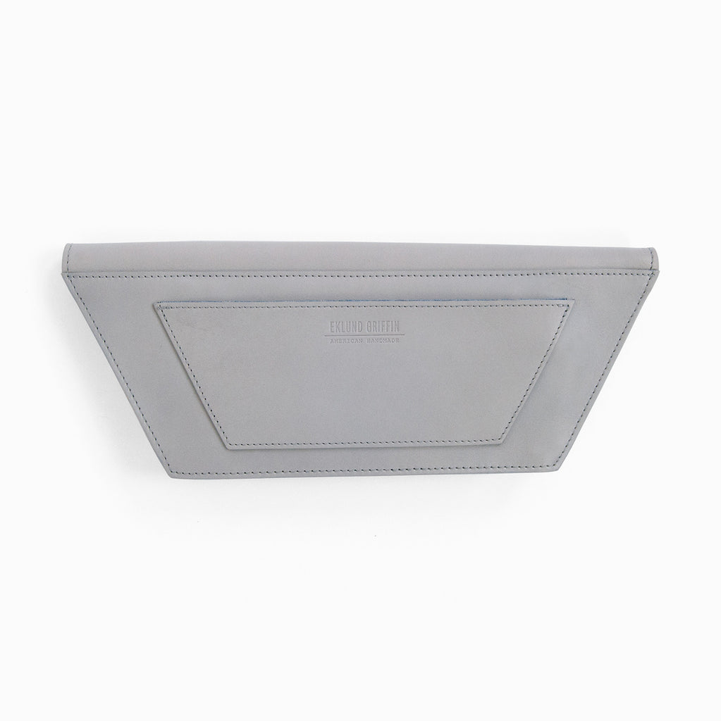 Dory Clutch in Gull Gray + Casco Bay Blue