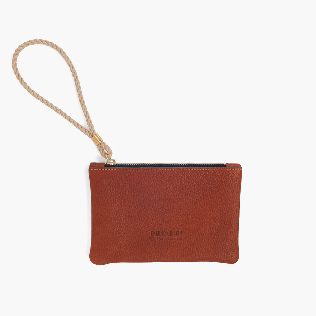 Rope Wristlet in Mahogany