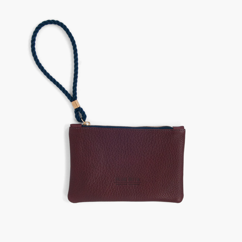 Rope Wristlet in Burgundy