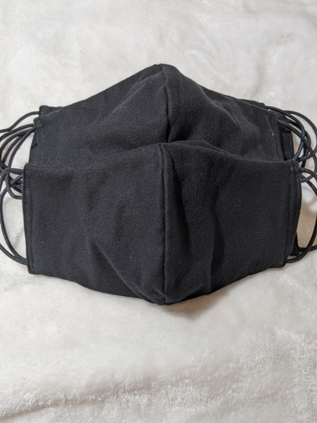 Black Flannel Face Mask