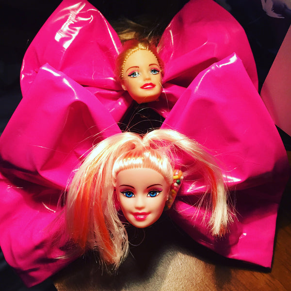 Pink Latex Barbie Hair Bow