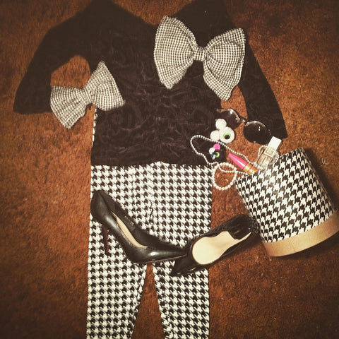 Houndstooth Hairbow