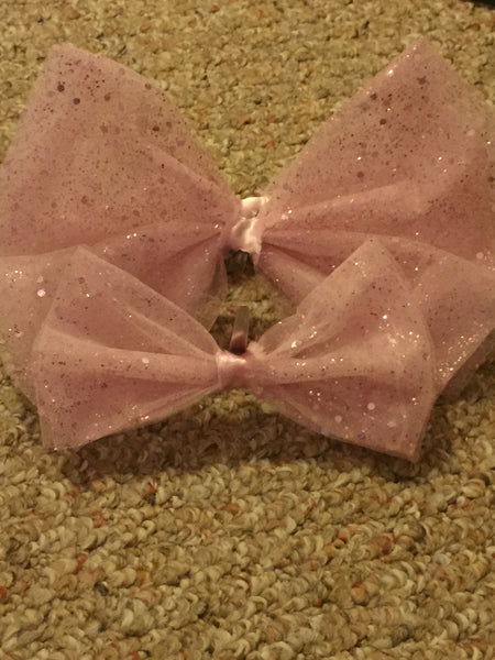 Pink GLiTTER PRiNCESS Hairbow
