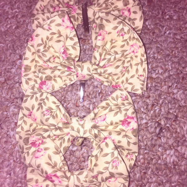 Floral Print Hairbow