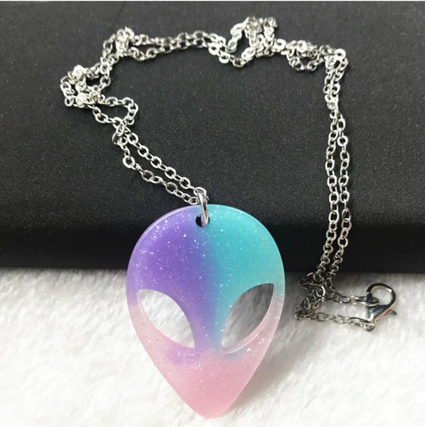 Acrylic Alien Mood Necklaces
