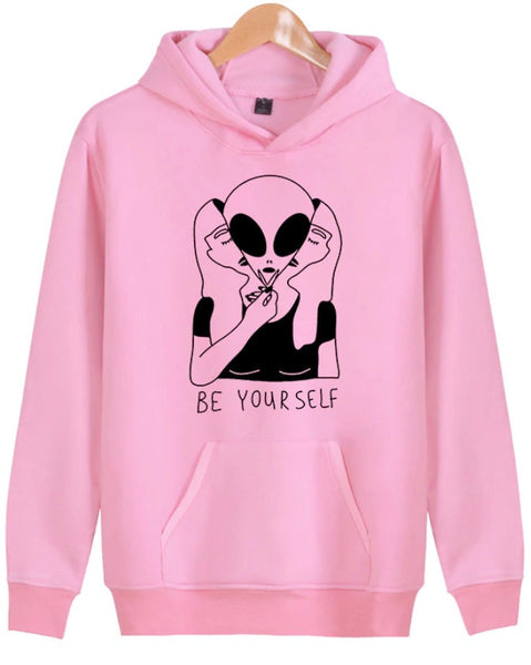 """Be Yourself"" Secret Alien Identity Hoodie"