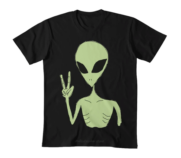 Alien gang sign Tee (up to 5XL)