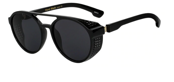 2023 Sunglasses (Steampunk Steel Plated Mesh)