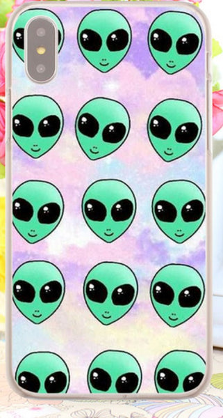 alien collage iPhone case