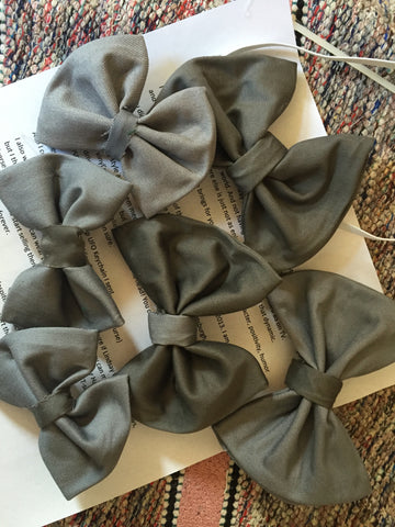 Grey Bow TIES