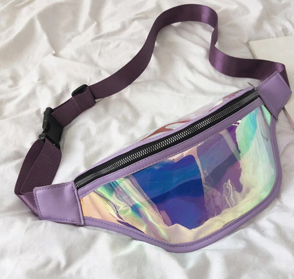 shiny metallic Fanny Packs