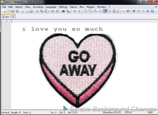 """Go Away"" PiNK Pastel Patch"