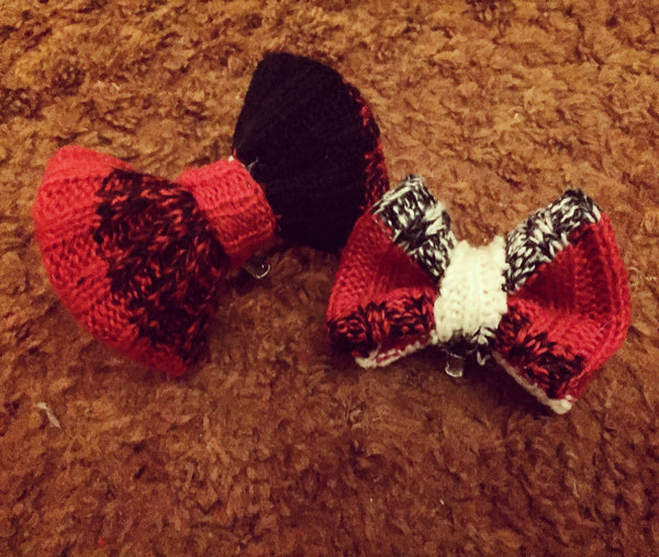 XMAS SWEATER Hair Bows