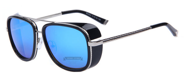 Men's Retro Rose Tinted Mirrored Vintage Sunglasses