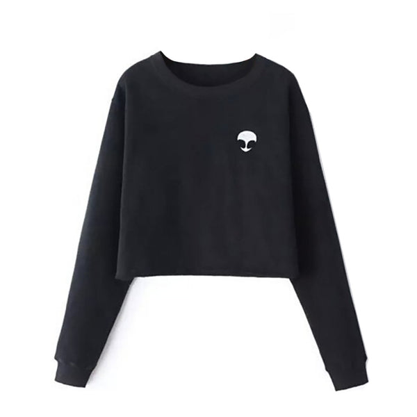 Alien Long Sleeve T-Shirt (Crop)