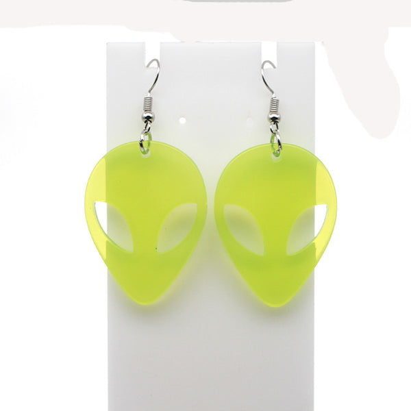 Acrylic Pastel Kawaii Alien Earrings
