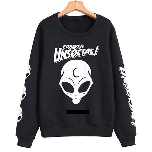 Anti-Social Emo Alien Sweatshirt