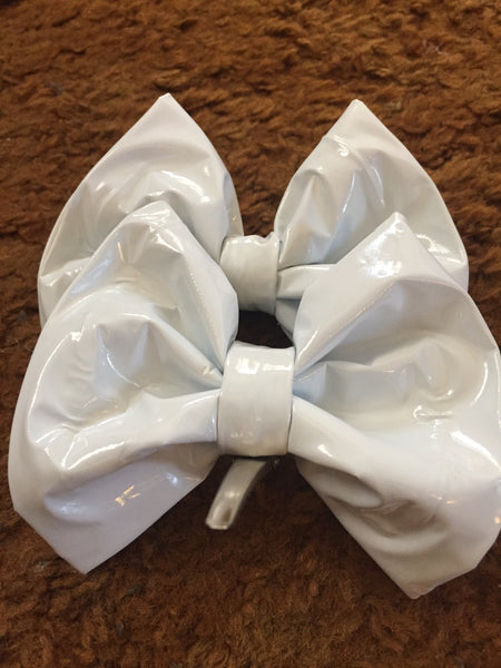 White LATEX Hairbow