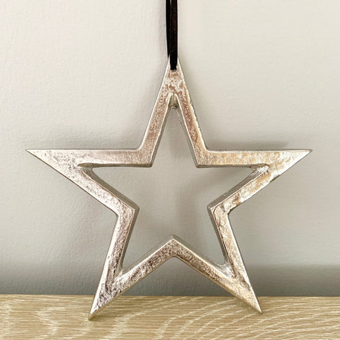 Raw Nickel Finish Star - 20CM