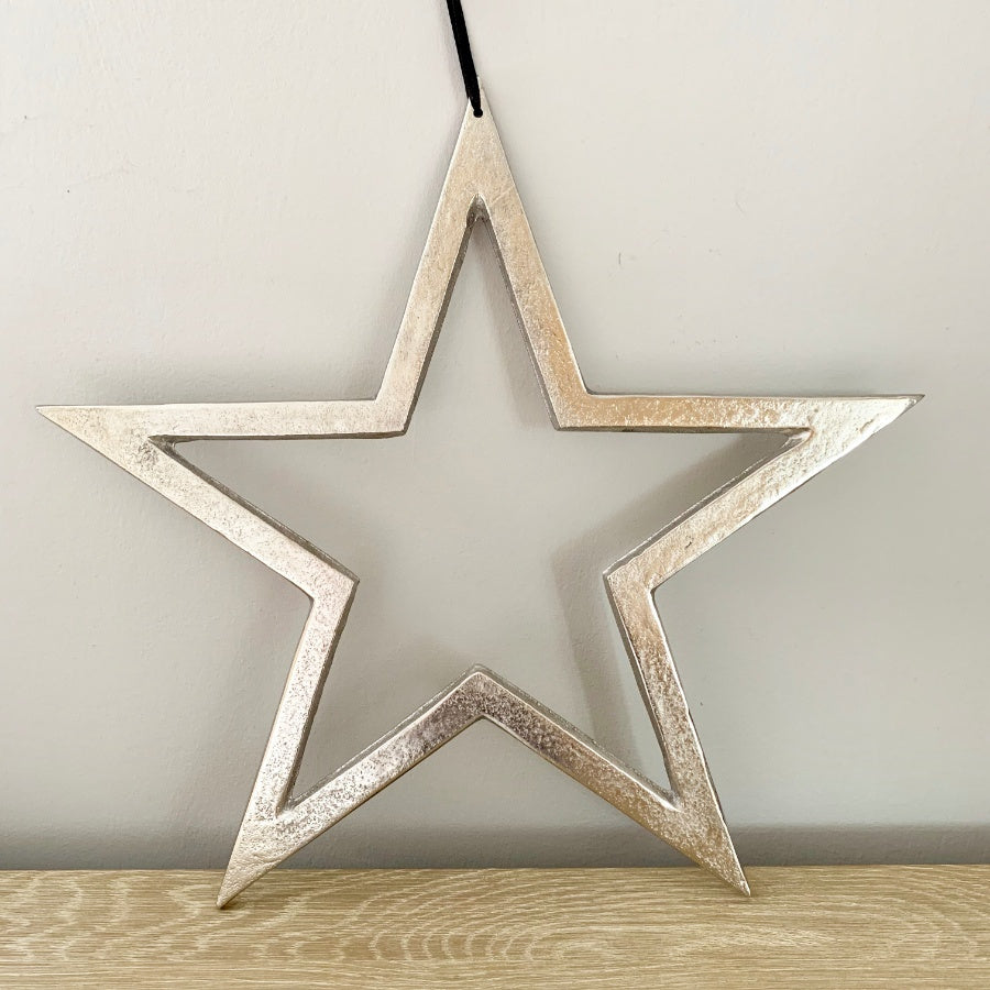 Raw Nickel Finish Star - 30CM
