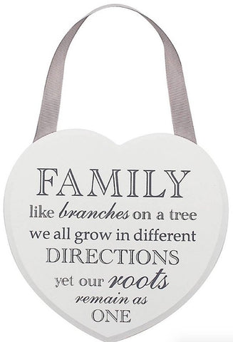 Tree of Life White Heart Plaque