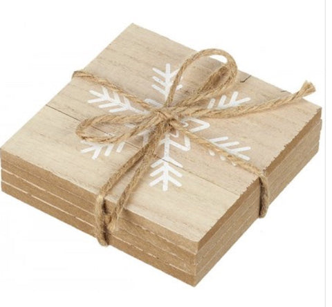 Wooden Snowflake Coasters