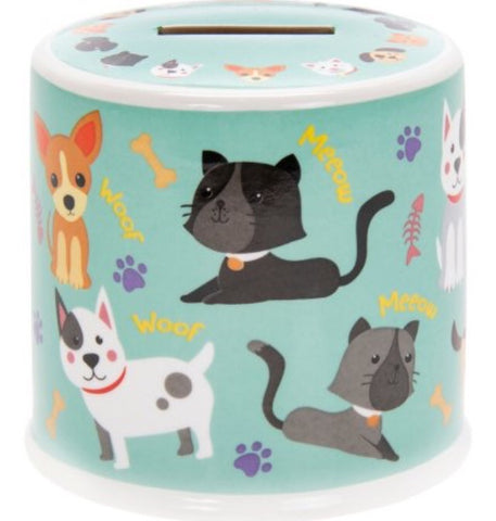 Little Stars Cats & Dogs Ceramic Money Box