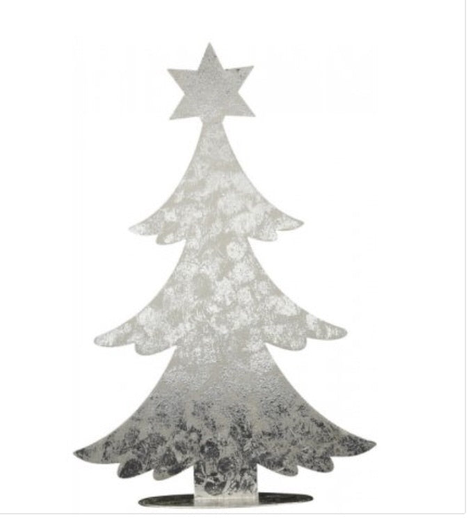 Rustic Silver Metal Tree