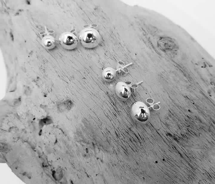 Simply Silver 6mm Studs