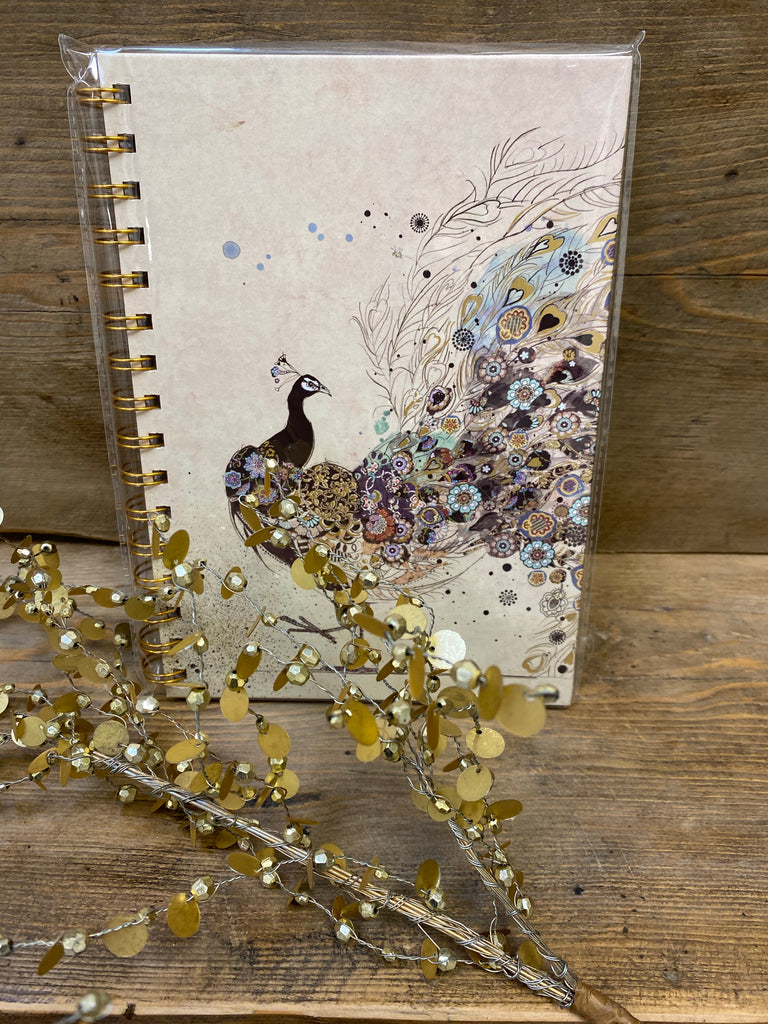 A5 Peacock Design Notebook