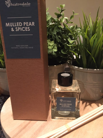 Organic Natural Reed Diffusers - Mulled Pear & Spices