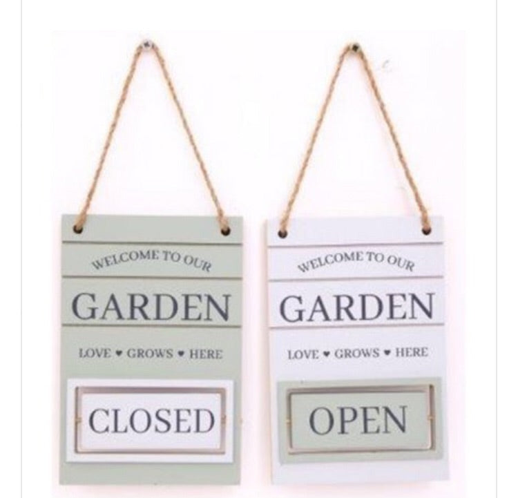 Potting Shed Open/Close Plaques