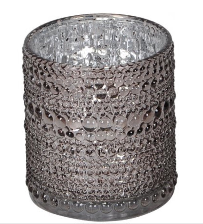 Bubble Ridged Candle Holder, 8cm