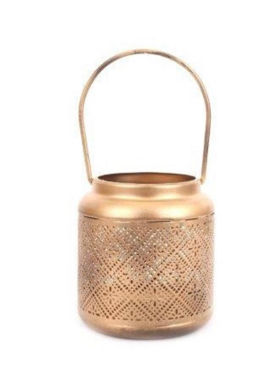 Gold Metal Cut Lantern