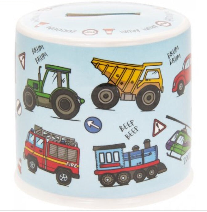 Little Stars Vehicle Ceramic Money Box