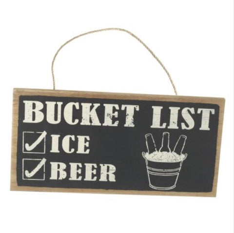 Wooden Bucket List Sign