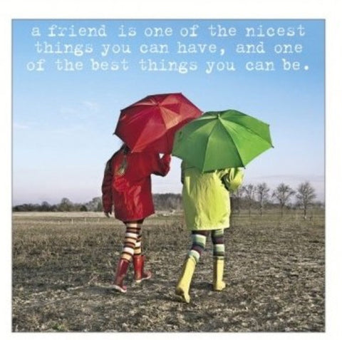 'A Friend is one of the nicest things you can have' Greetings Card