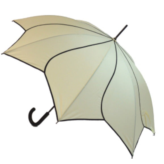 Beige Swirl Walking Stick Style Umbrella