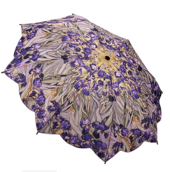 Van Gochs Irises Folding Style Umbrella